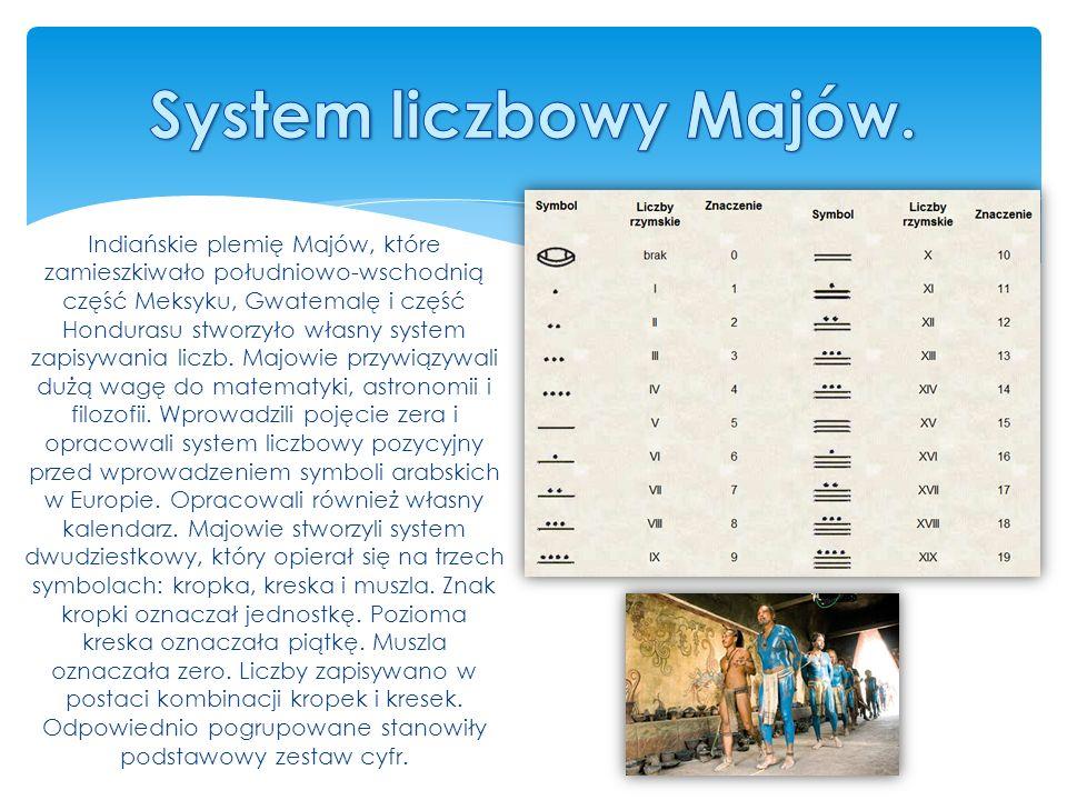 System liczbowy Majów.