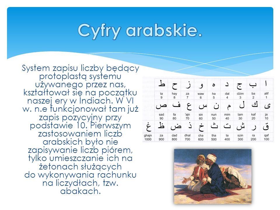 Cyfry arabskie.