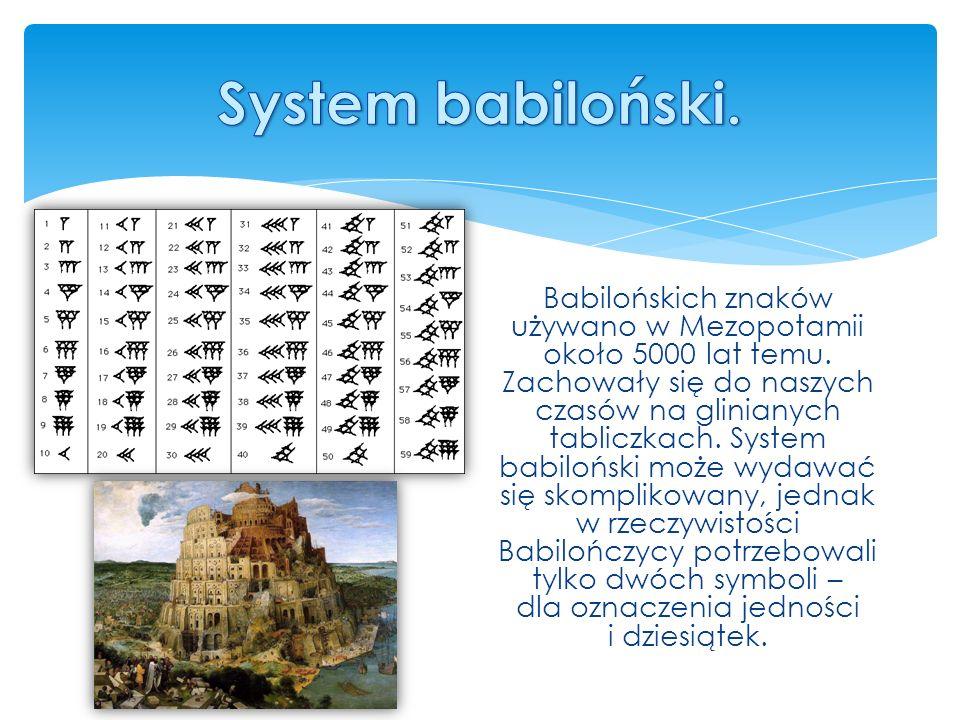 System babiloński.