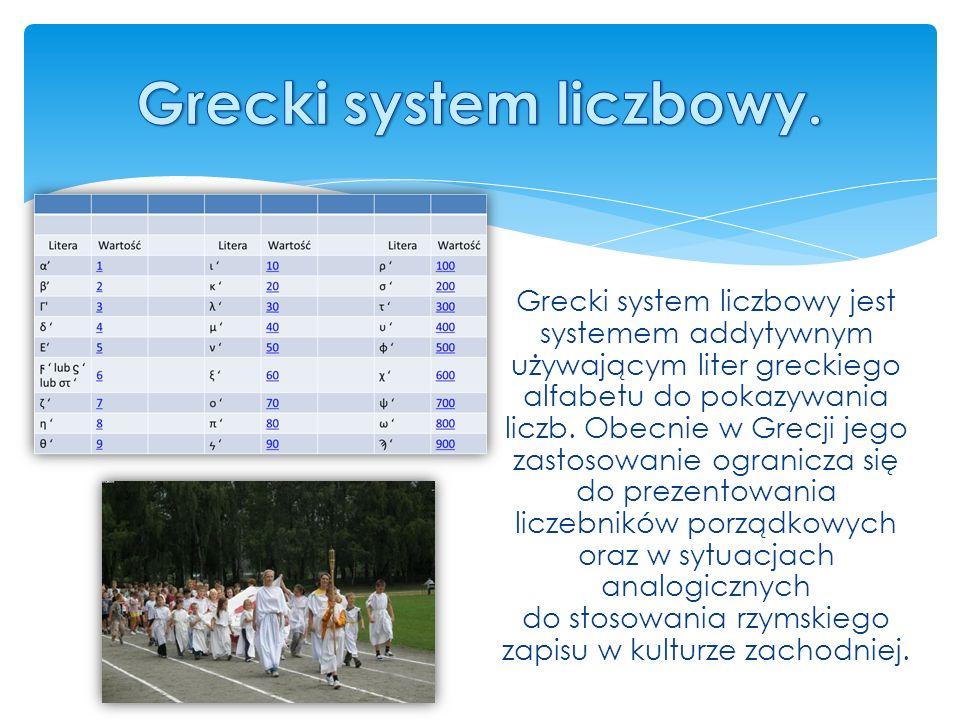 Grecki system liczbowy.
