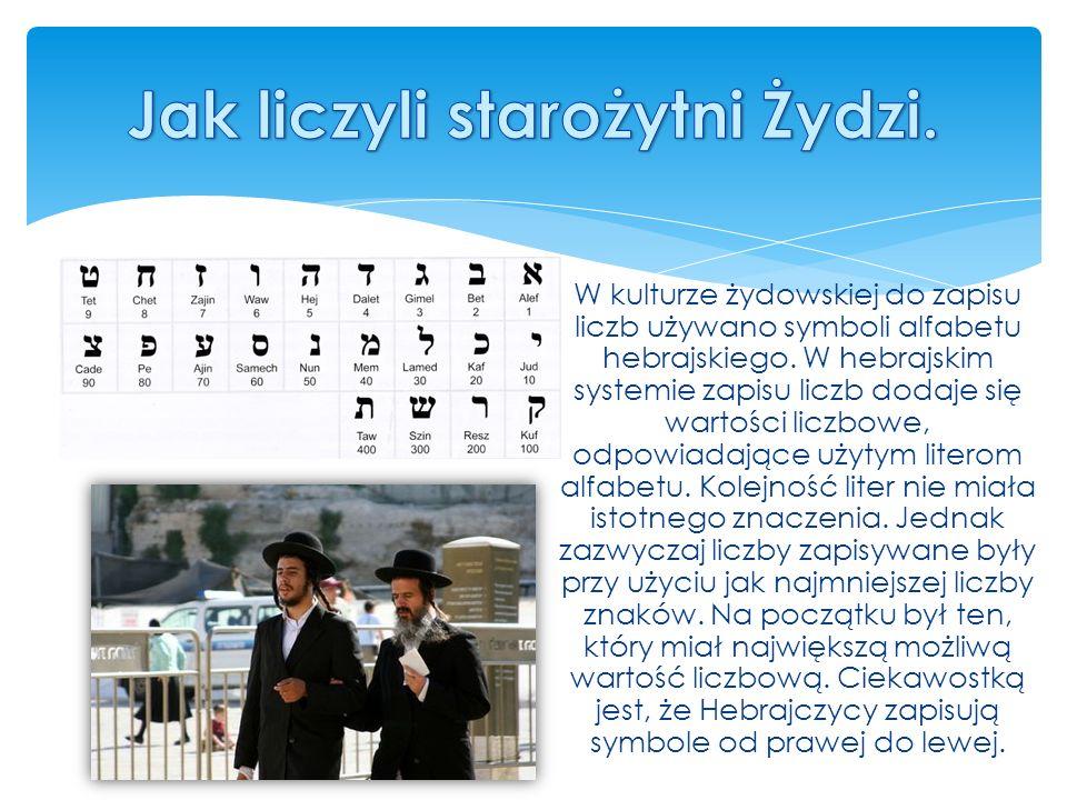 Jak liczyli starożytni Żydzi.