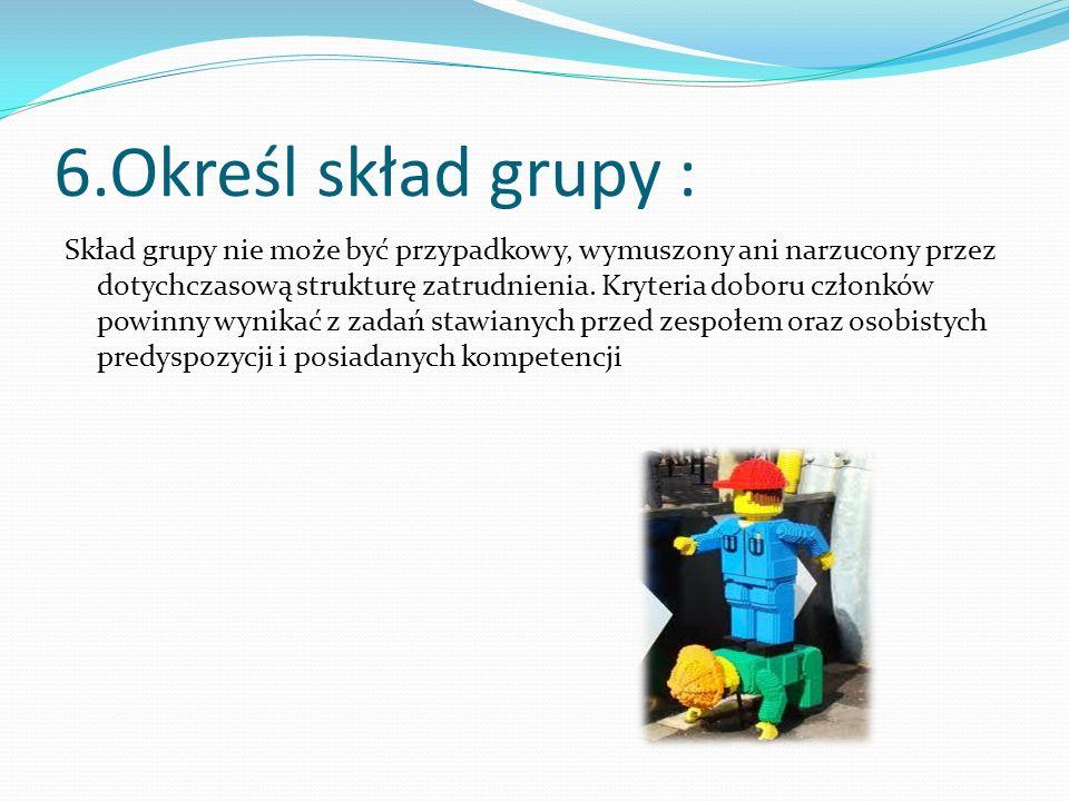 6.Określ skład grupy :