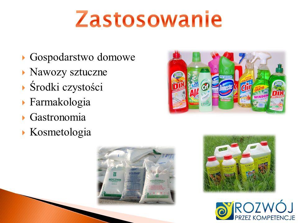 Zastosowanie Gospodarstwo domowe Nawozy sztuczne Środki czystości