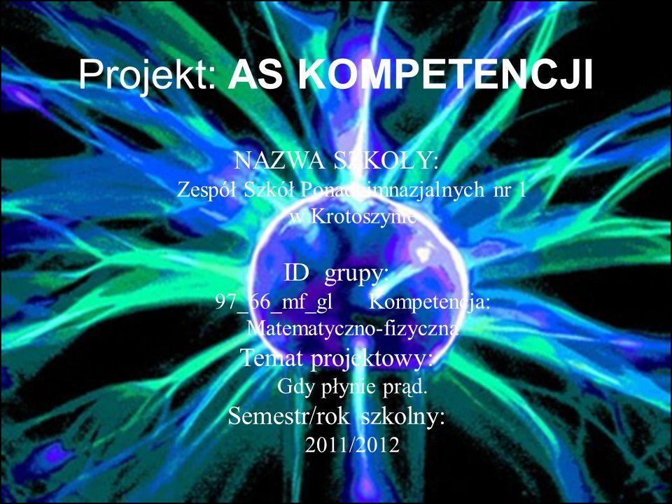 Projekt: AS KOMPETENCJI