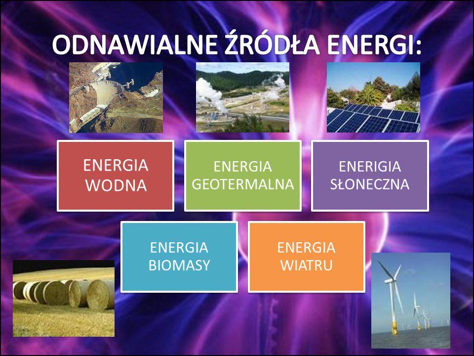 ODNAWIALNE ŹRÓDŁA ENERGI: