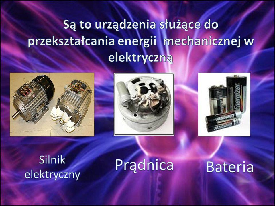 Są to urządzenia służące do przekształcania energii mechanicznej w elektryczną