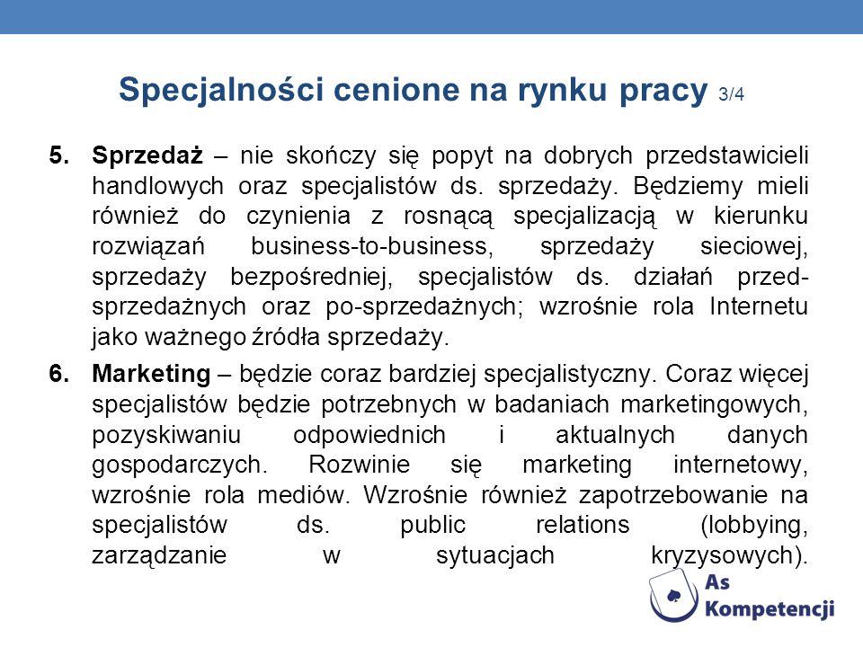 Specjalności cenione na rynku pracy 3/4