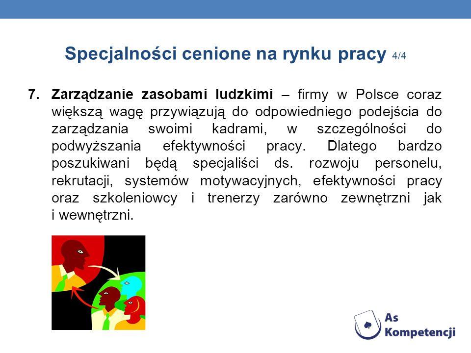 Specjalności cenione na rynku pracy 4/4