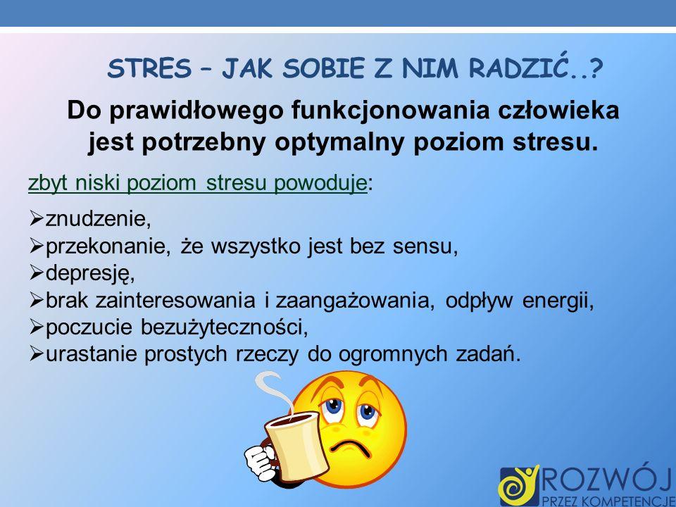 Stres – jak sobie z nim radzić..