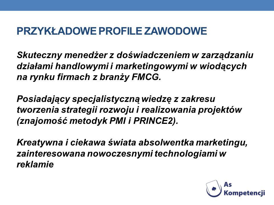 Przykładowe profile zawodowe