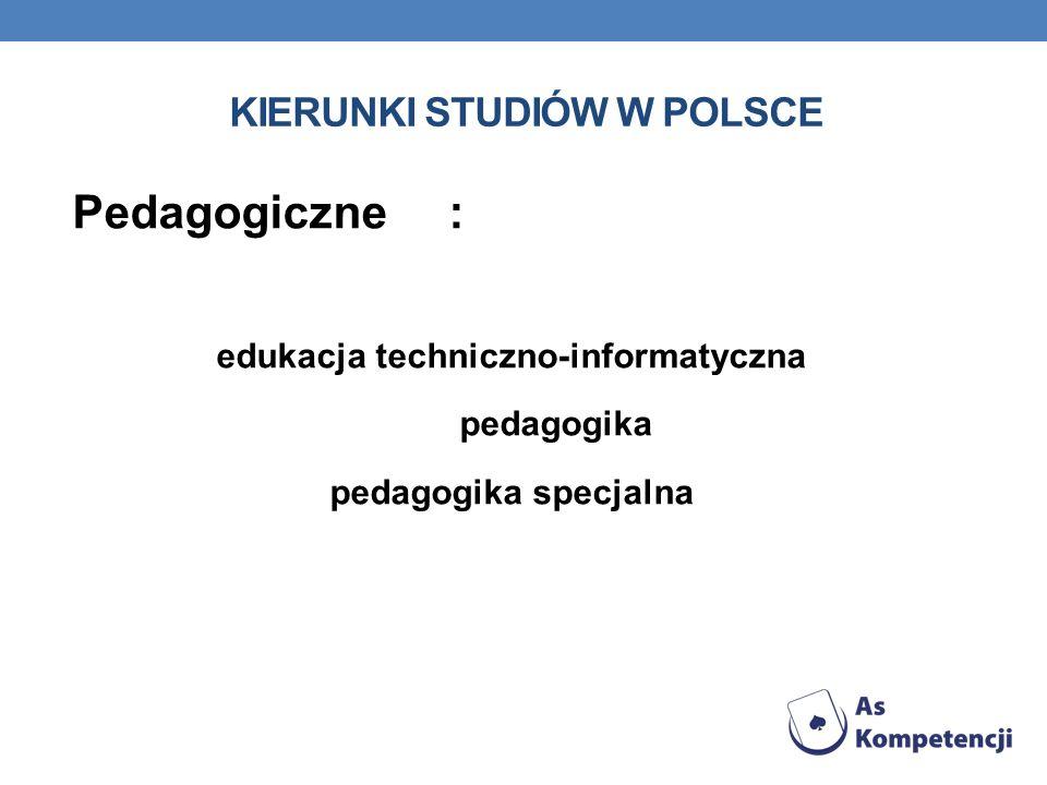KIERUNKI STUDIÓW W POLSCE