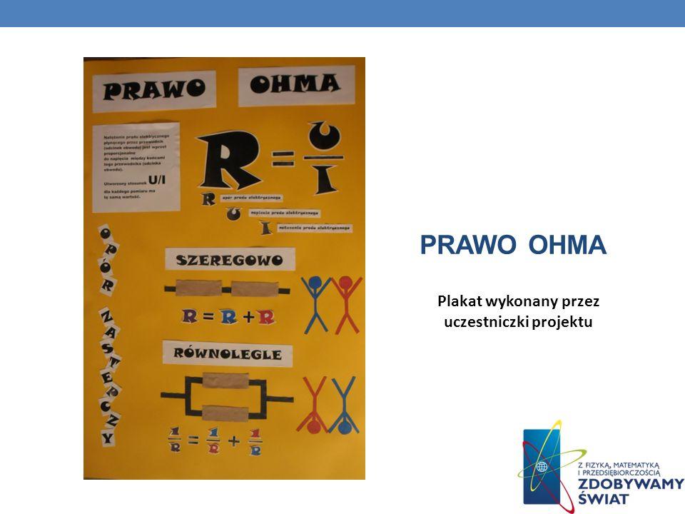 Plakat wykonany przez uczestniczki projektu