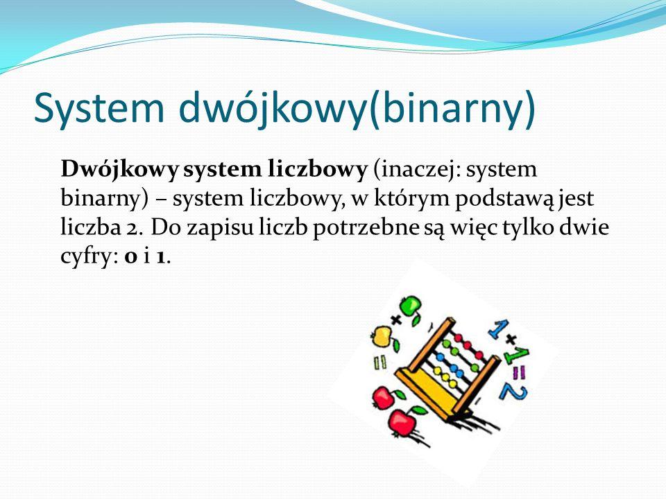 System dwójkowy(binarny)