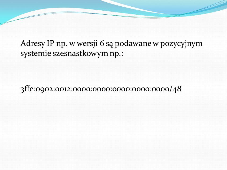 Adresy IP np.