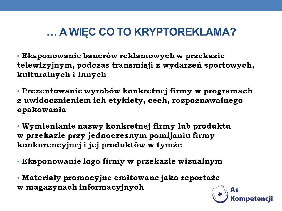 … a więc co to kryptoreklama