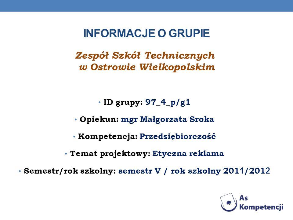 Informacje o grupie Zespół Szkół Technicznych w Ostrowie Wielkopolskim