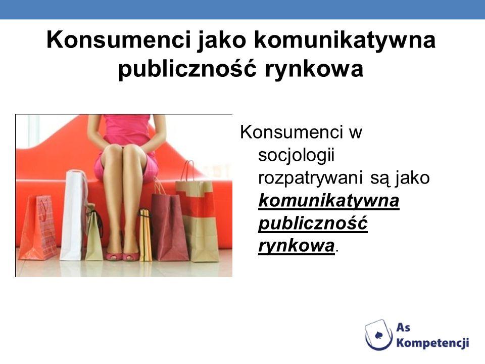 Konsumenci jako komunikatywna publiczność rynkowa