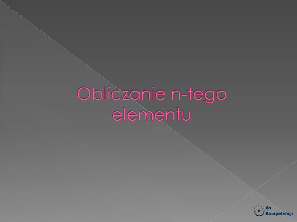 Obliczanie n-tego elementu