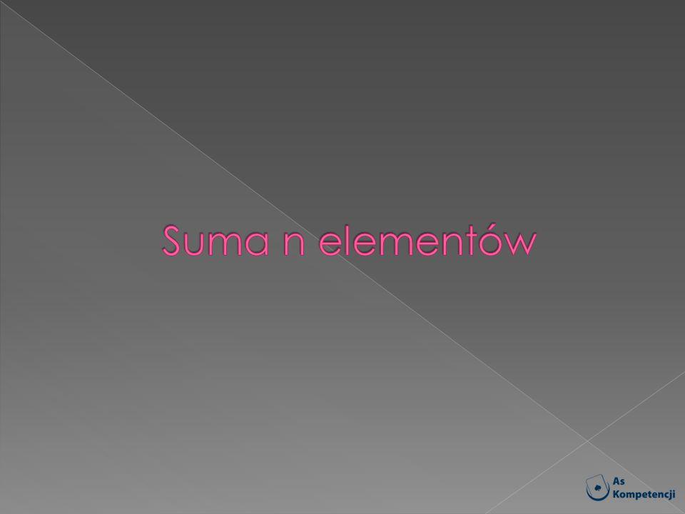 Suma n elementów