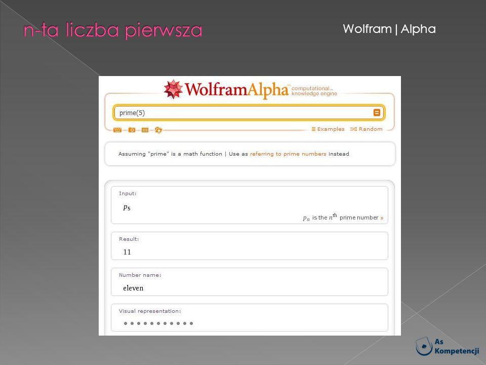 n-ta liczba pierwsza Wolfram|Alpha