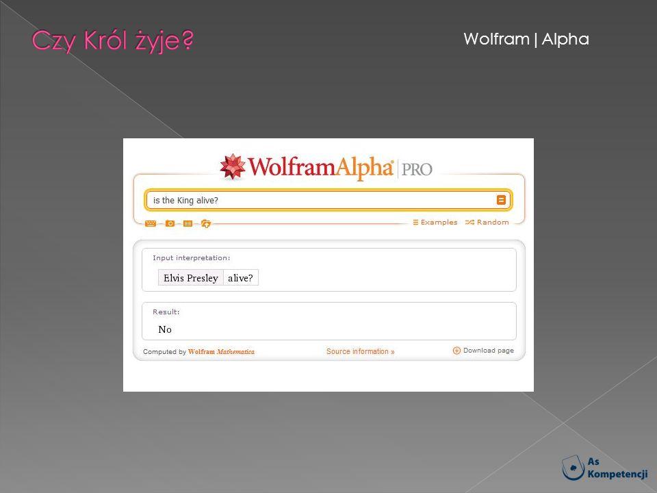 Czy Król żyje Wolfram Alpha