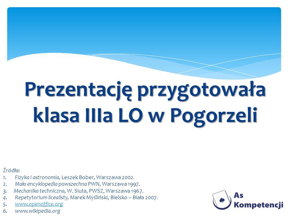 Prezentację przygotowała klasa IIIa LO w Pogorzeli