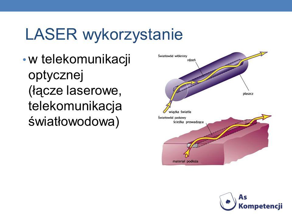 LASER wykorzystanie w telekomunikacji optycznej (łącze laserowe, telekomunikacja światłowodowa)