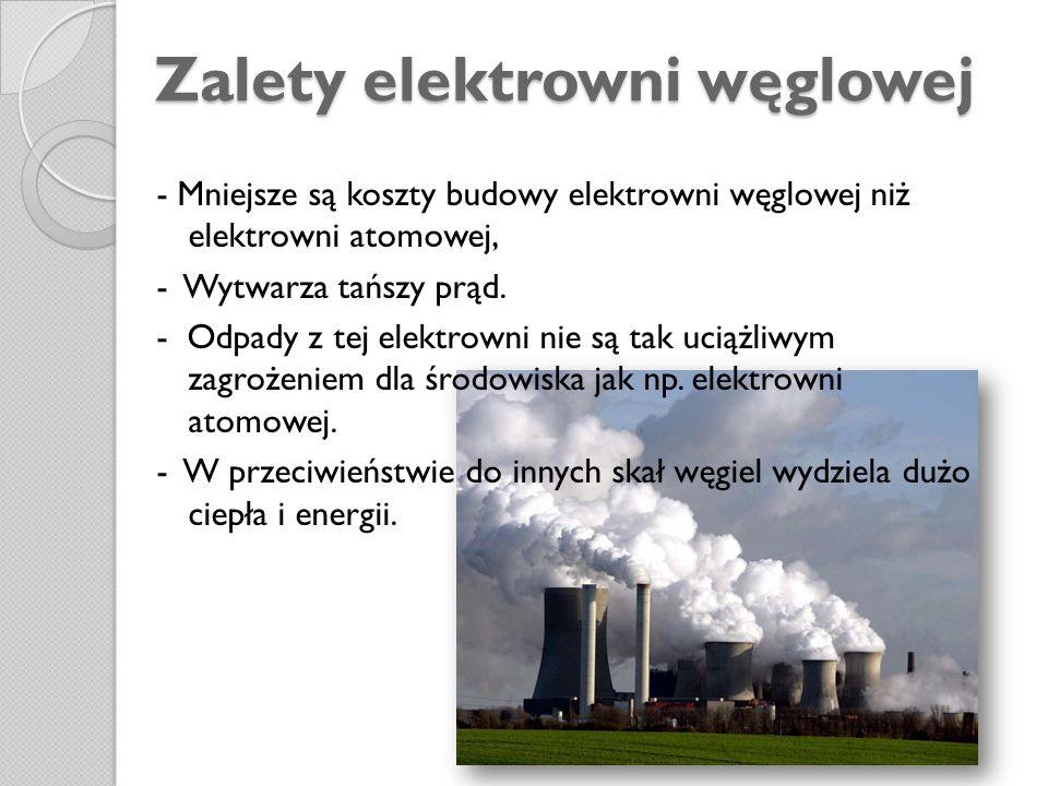 Zalety elektrowni węglowej