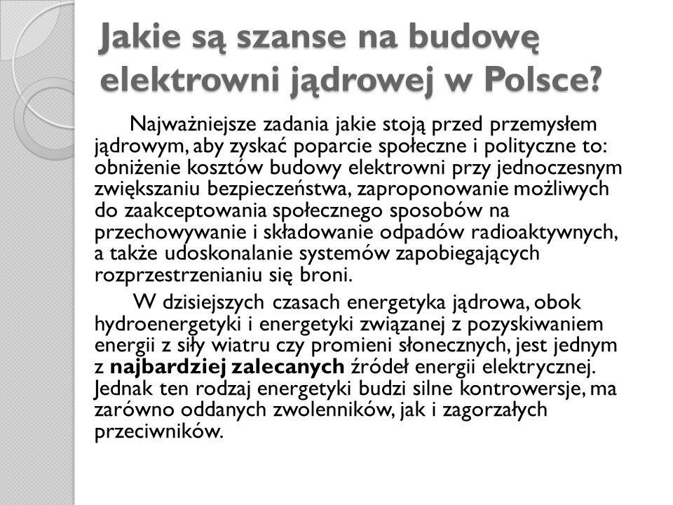 Jakie są szanse na budowę elektrowni jądrowej w Polsce