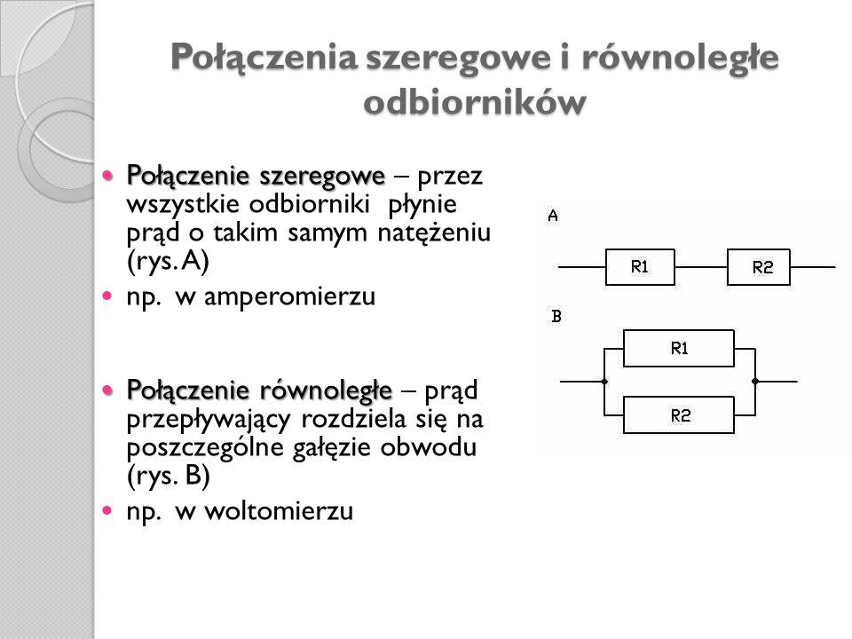 Połączenia szeregowe i równoległe odbiorników