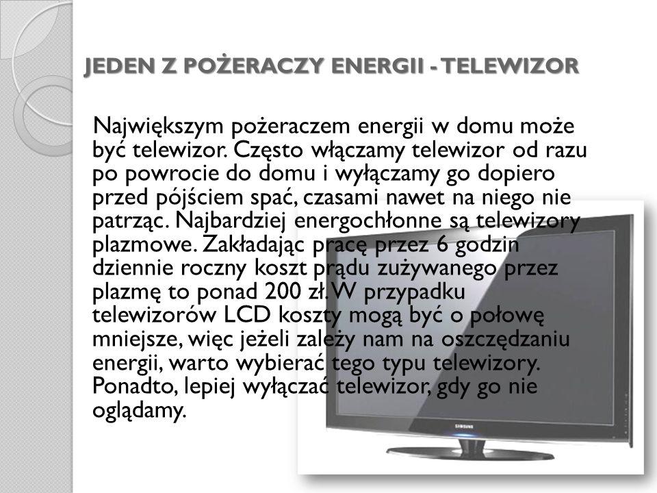 JEDEN Z POŻERACZY ENERGII - TELEWIZOR