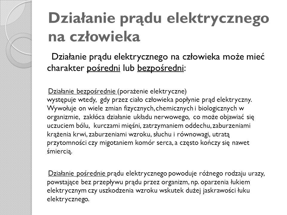 Działanie prądu elektrycznego na człowieka