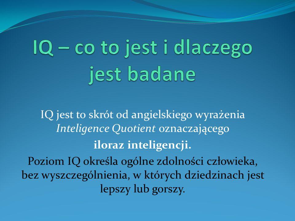 IQ – co to jest i dlaczego jest badane