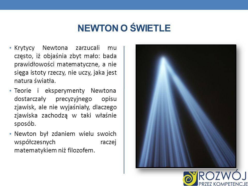 Newton o świetle