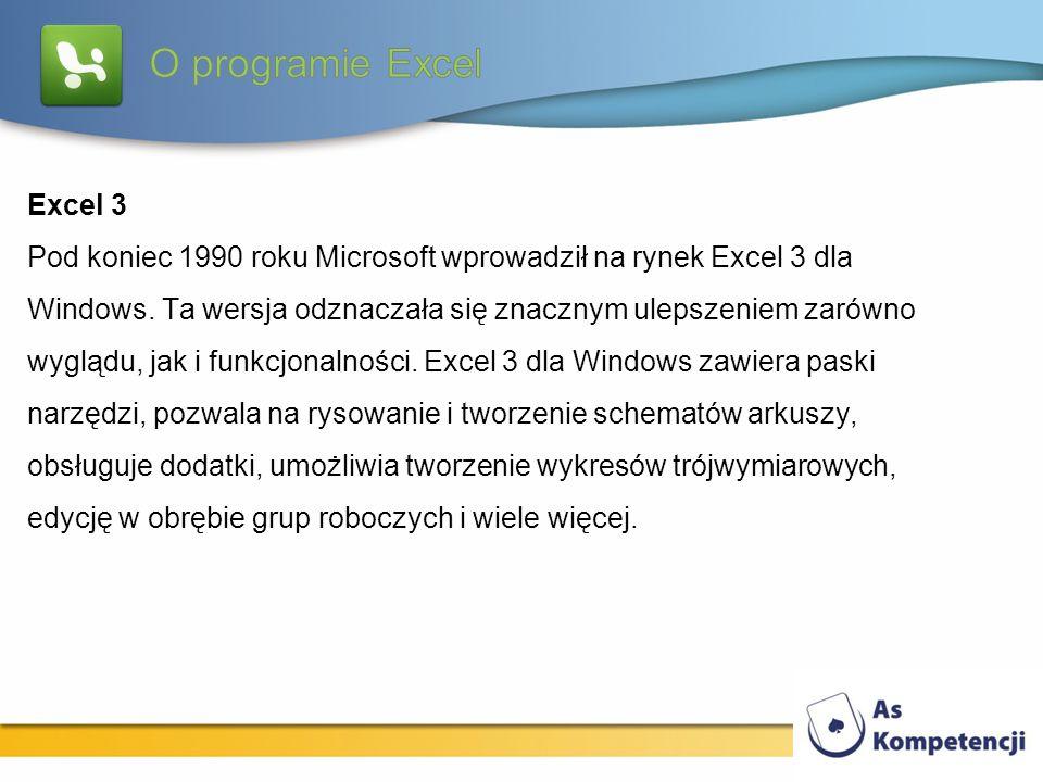 O programie Excel