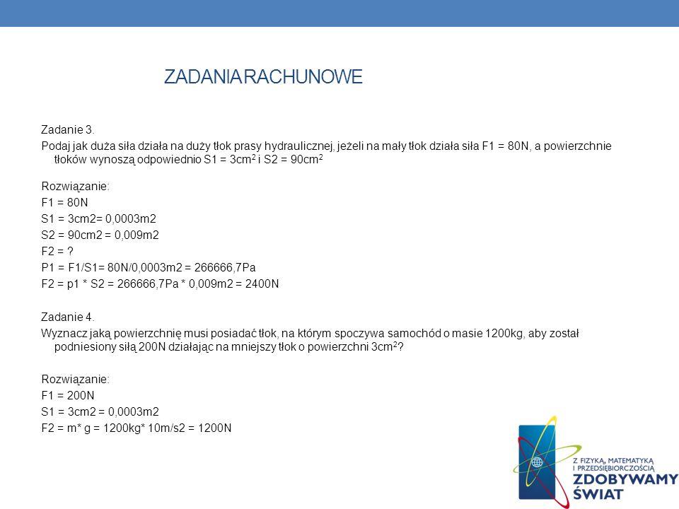 ZADANIA RACHUNOWE Zadanie 3.