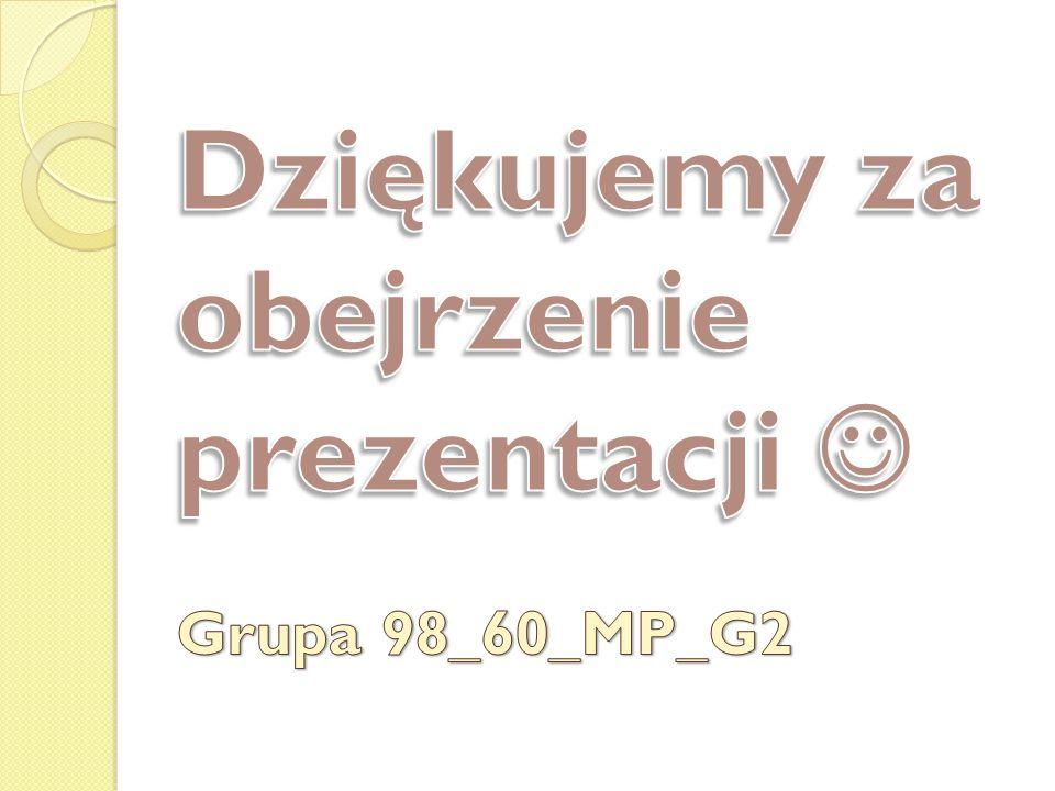 Dziękujemy za obejrzenie prezentacji  Grupa 98_60_MP_G2