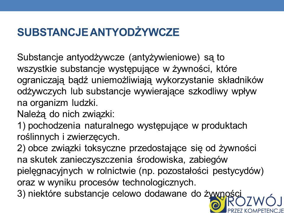 Substancje antyodżywcze