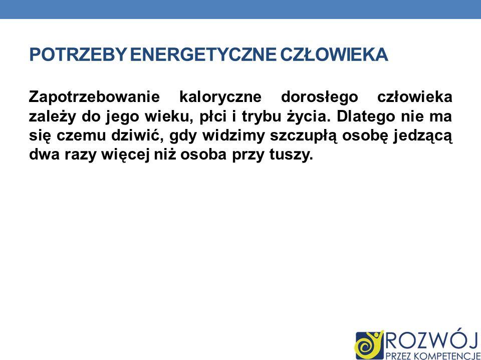 Potrzeby energetyczne człowieka