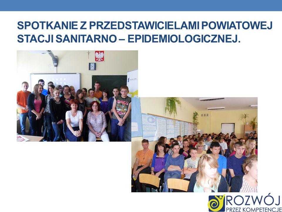 spotkanie Z PRZEDSTAWICIELAMI Powiatowej Stacji Sanitarno – Epidemiologicznej.
