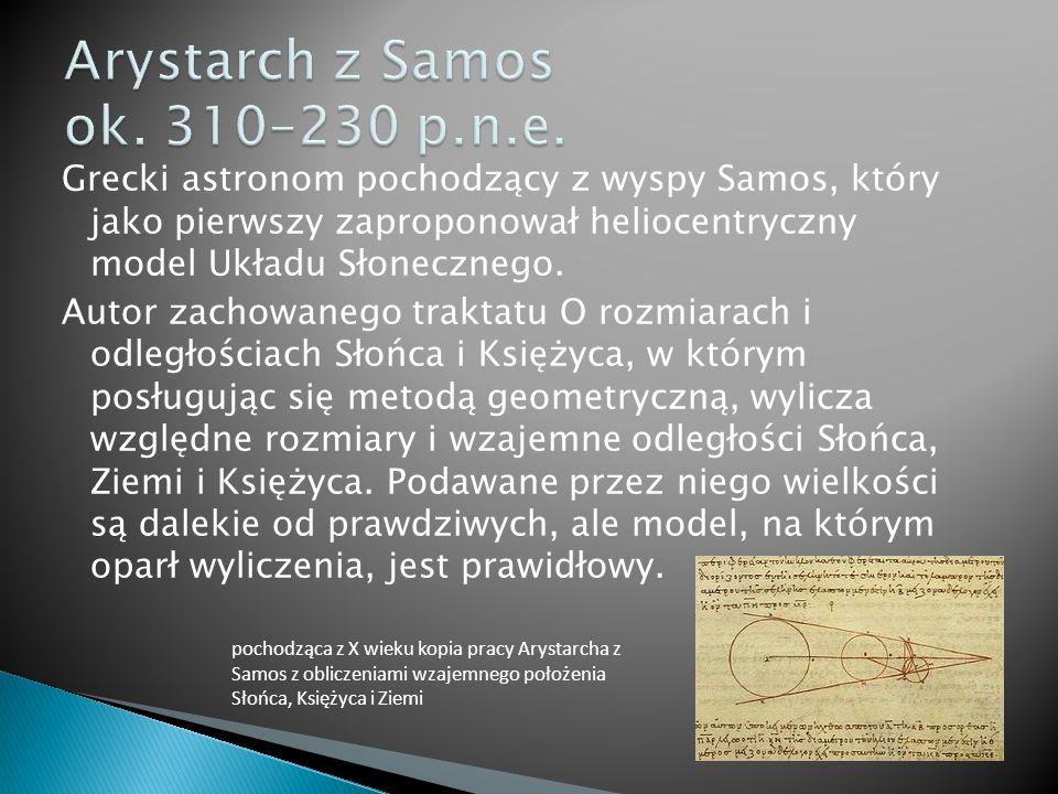 Arystarch z Samos ok. 310–230 p.n.e.