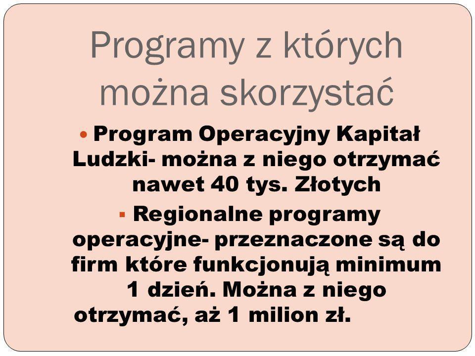 Programy z których można skorzystać