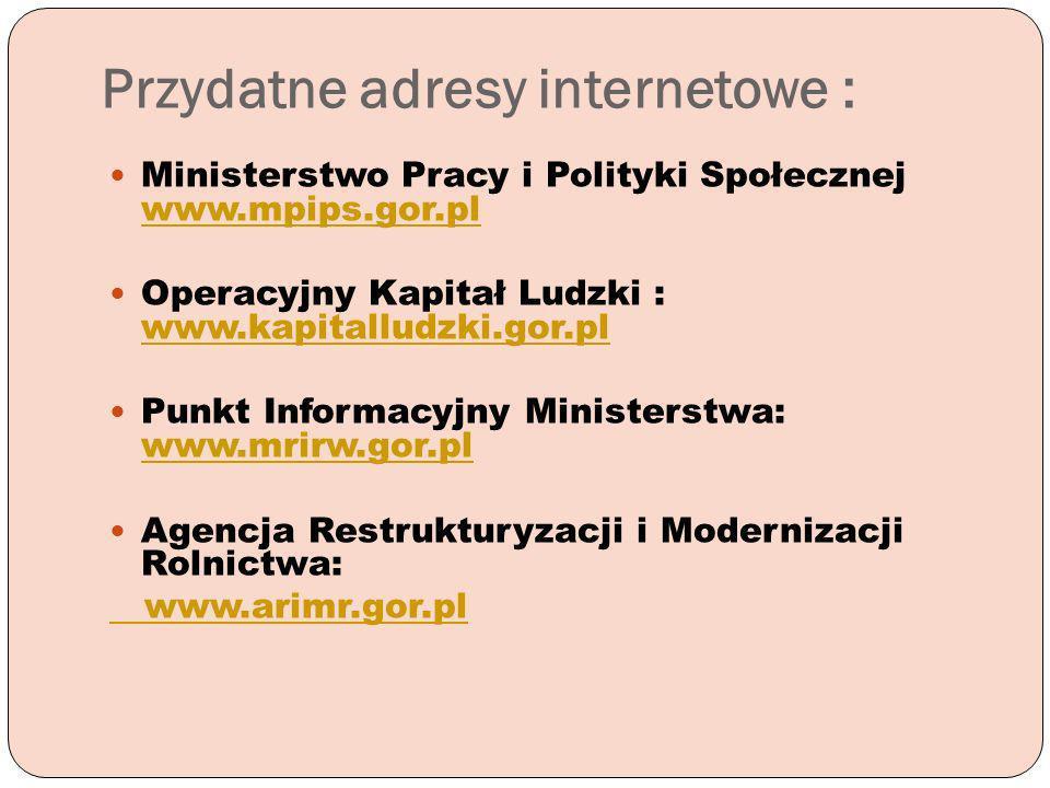 Przydatne adresy internetowe :