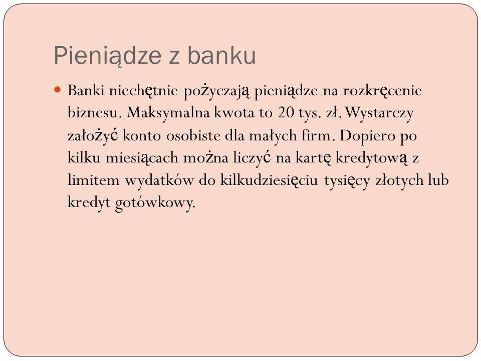 Pieniądze z banku