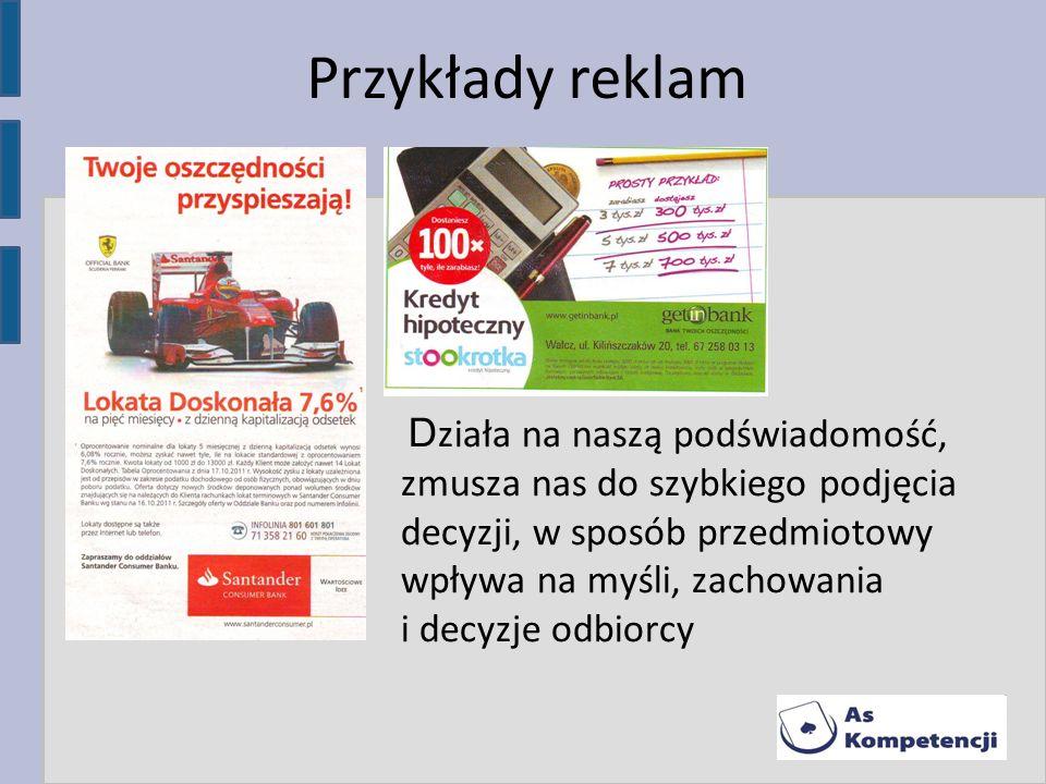 Przykłady reklam