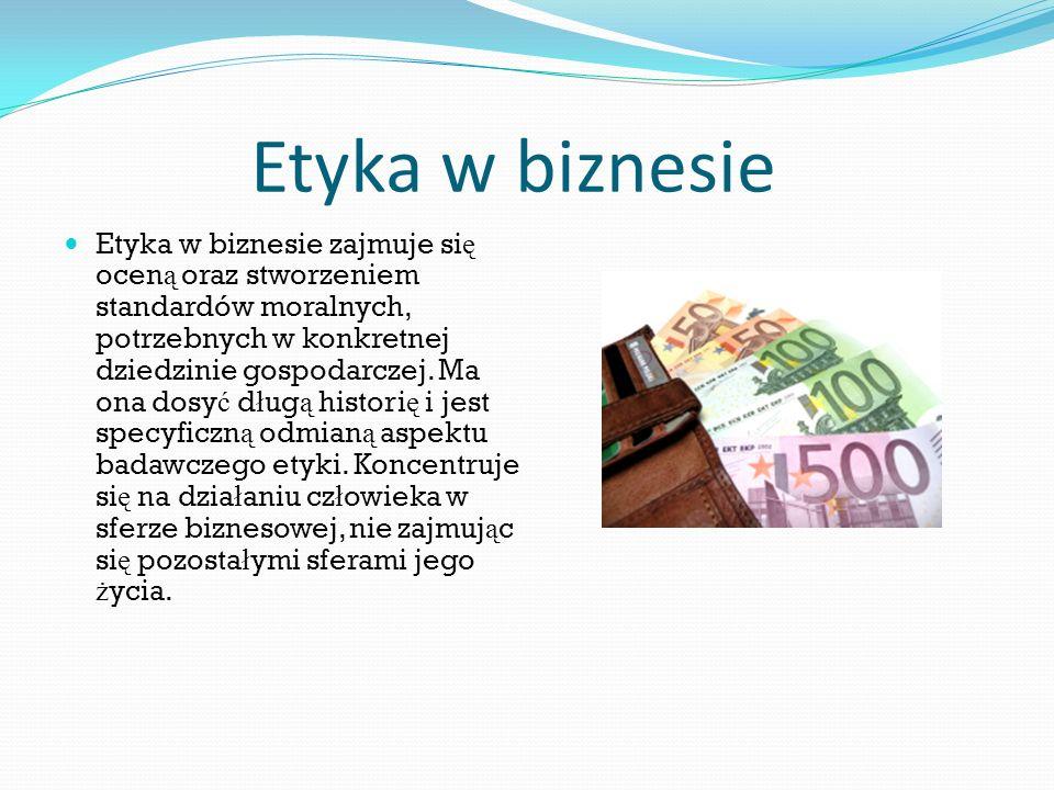 Etyka w biznesie