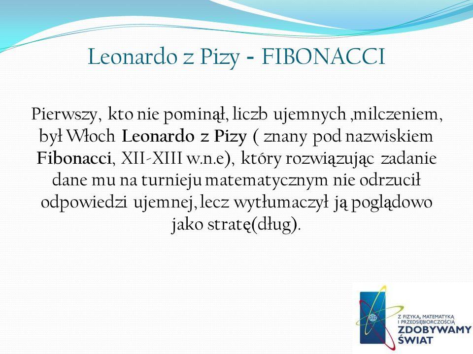 Leonardo z Pizy - FIBONACCI
