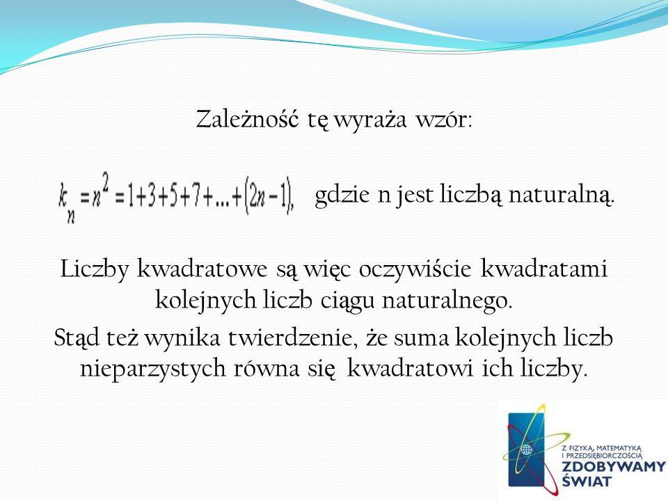 Zależność tę wyraża wzór: gdzie n jest liczbą naturalną
