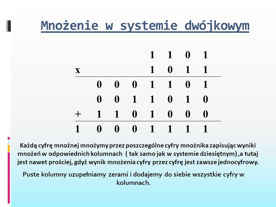 Mnożenie w systemie dwójkowym