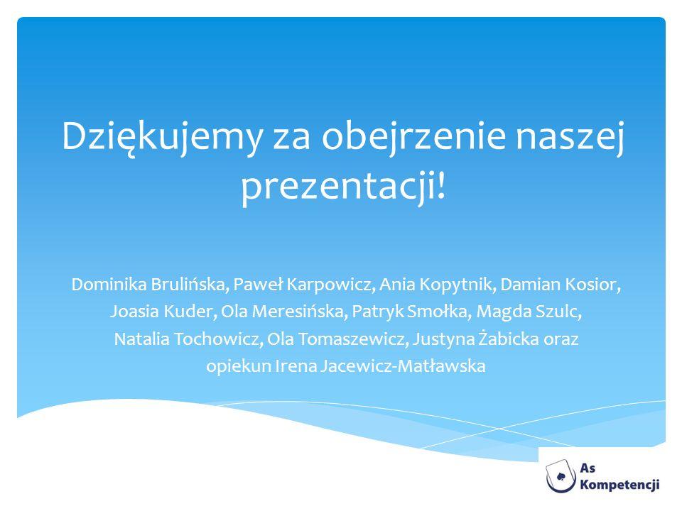 Dziękujemy za obejrzenie naszej prezentacji!